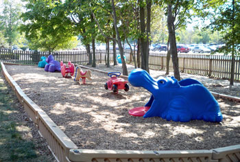 Carmel Indiana Toddler's Playground at a large Day Care center near 116th and Meridian